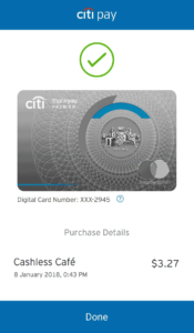 CitiPay Paid Screen