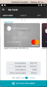 Partner Pay Android App Card Dashboard