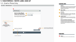 Masterpass Registration Wireframe