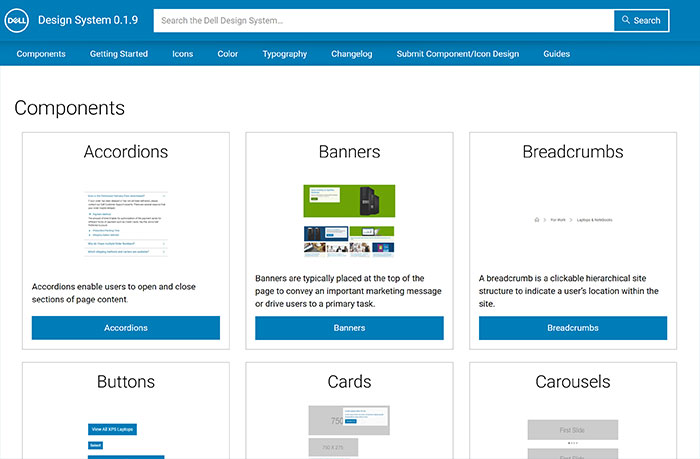 Dell Design System Website